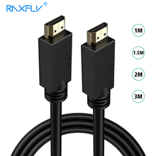 RAXFLY HDMI 2.0 Cable Video Adapter 1M 2M 3M Male-Male 4K*2K HDMI Adapters 3D HD For laptop Computer TV Game PS3 Projector LCD(China)