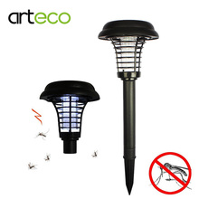 Solar powered Outdoor Mosquito Insect Killer Light Garden UV LED Zapper spike - arteco Official Store store