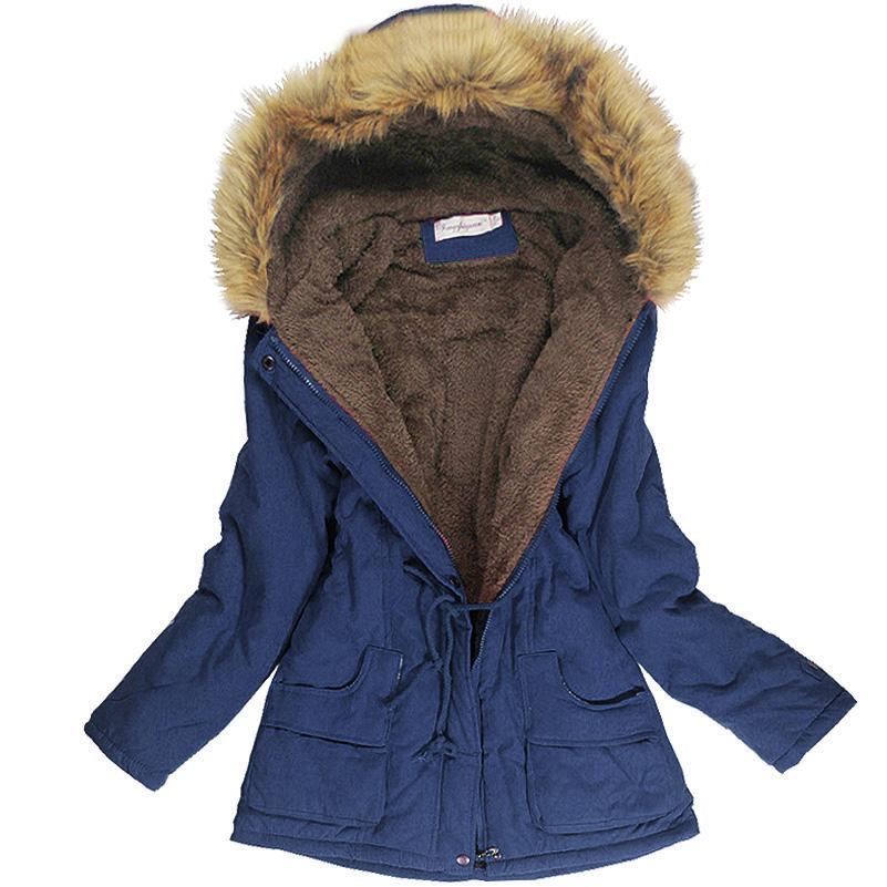Warm Winter Coats Women Fur Collar Coats Womens Long Down Parka Plus Size Hoodies Parkas Classical Jackets Woman Fashion FleeceОдежда и ак�е��уары<br><br><br>Aliexpress