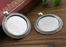 New Fashion  5pcs 25mm Inner Size Antique Silver Cool Style Cabochon Base Setting Charms Pendant (A3-03)