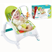 2017 New Baby Coax Sleep Artifact Chairs Baby Shock Poke Rocking Chair Child Light Leisure Seat Hot Sell