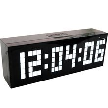 Led Wooden Clock Digital Wood Wall Watch Big Screen Dual Alarm Watch Bedside Snooze Kitchen Timer Office Temperature Date timer