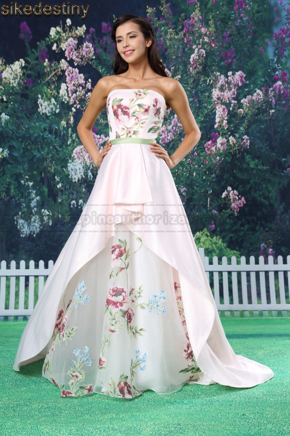 Detail Feedback Questions about Sikedstiny 2018 Satin Long Strapless ... 1496a261d258