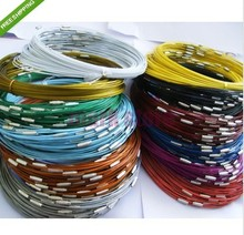 Free Shipping 100pcs Mixed Color Stainless Steel Necklace Wire Cord For DIY Craft Jewelry 18inch(China)