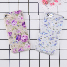 Buy Fashion Purple flowers Case iphone 7 Case iphone 7 6 6s 8 Plus Cases Floral Pattern Soft TPU Phone Back Cover Coque for $2.39 in AliExpress store
