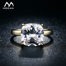 MDEAN 18KGP Gold Color Rings For Women Bid Cubic Imitation engagement vintage Jewelry wedding ring Bijoux Accessories 18KR011(China)