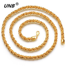 New Design Men Fashion Gold-color Stainless Steel Chain Necklace,Women Vintage Pendant Necklace Chain Jewelry Customize collare