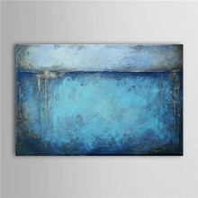 Hand Painted UnFramed Oil Paintings Abstract Whole Blue Canvas Painting Parlor Bedroom Wallpater Art Decor Indoor Decoration Oil