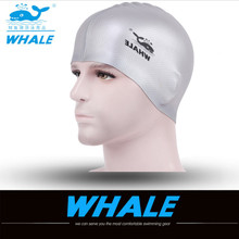 2017 New swimming cap silicone waterdrop unisex adults solid bright colour free size waterproof cover protect ears swimming caps(China)