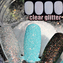5g/Box Shining Clear Glitter Powder Gold Purple Silver Holographic Nail Art Acrylic Powder Dust Manicure Decoration 6 Colors