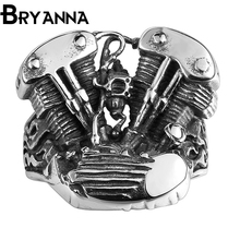 Bryanna Vintage 316L Stainless Steel man Mechanical storm personality ring retro Jewelry Punk party men's rings for men BYNR145