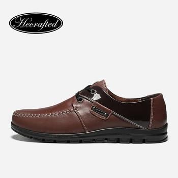 Taille 37 ~ 47 pleine fleur en cuir Top qualité Classique style simple Hommes en cuir chaussures Originales Hecrafted marque # H9901