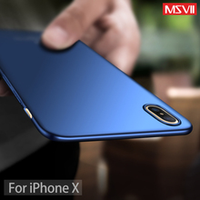 Buy Msvii Original iPhone X Ultra Thin Slim Case Matte Business Super Thin Phone Case Apple iPhone x Hard Cover Back for $3.99 in AliExpress store