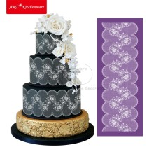 Cake Fondant Blumen Mesh Stencil Cake Stencil Template Lace Mat Wedding Cake Decorating Suppliers Damask Cake Stencil Set MST-01(China)