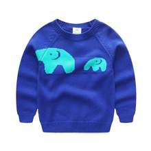 Baby elephant sweater 16 spring the new set of head line unlined upper garment of children's wear children's wear male children