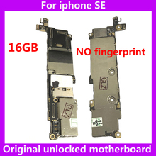 Free iCloud motherboard for iphone SE 16gb original unlocked mainboard without touch ID for iphone 5SE IOS system board with IC(China)