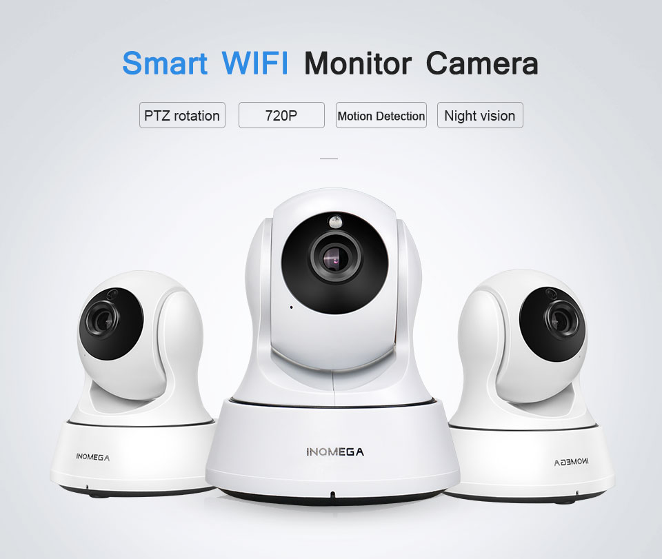 INQMEGA 720P Security baby monitor IP Camera WiFi Home Security CCTV Camera with Night Vision Two Way Audio P2P Remote View