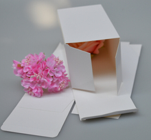 Qi Size:8*8*14cm 50pcs/lot White Natural Paper Packing Box Paper packaging Jewelry Packing Box Cosmetic Paper Box jewelry Favor