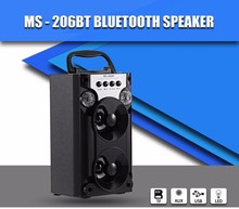 MS-206BT Wireless Bluetooth Speaker Portable Support FM AUX LED Shinning TF Card Outdoor Music Player for Party Office Relax(China)