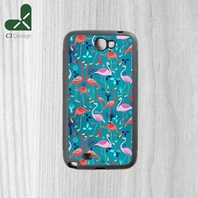 Berserk beautiful pattern lovers flamingo Background DIY Design Phone Accessories Case Cover for Samsung Note2 Note3 Note4 Note5
