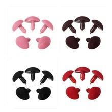 5Pcs/Bag 15MM*20MM Plastic Safety Triangle Velvet Noses Buttons DIY Bear Toy Doll Accessories Wholesale Price(China)