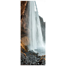 77*200cm natural scenery poster messy Rock steep Waterfall 3d door stickers home decoration wall art landscape vinyl mural(China)