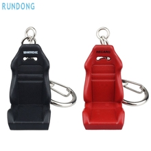 AUTO car-styling 3D Creative key ring Metal steering-wheel Titanium Key Chain Car Ring Keychain Attachments  SE 16