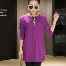 Candy colors New autumn winter 2016 Fashion Women long sleeve Dresses Plus Size Dress Loose girl casual tops 3xl 4xl cotton