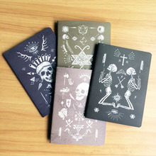 4pcs/lot Vintage Pirate skull series Kraft paper notebook/Gift travel diary/Office note book & School Supplies GT005(China)