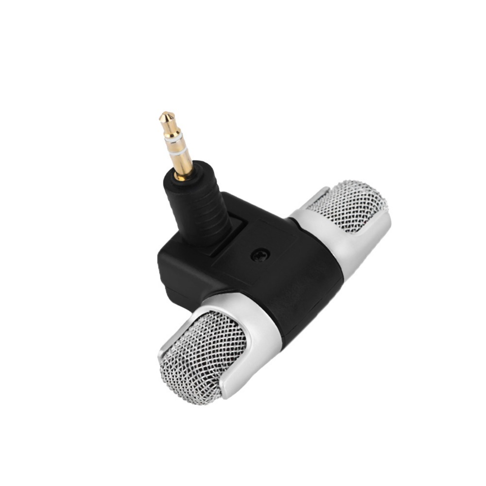 Mini Stereo Microphone Mic 3.5mm Gold-plating Plug Jack for PC Laptop MD Camera (4)