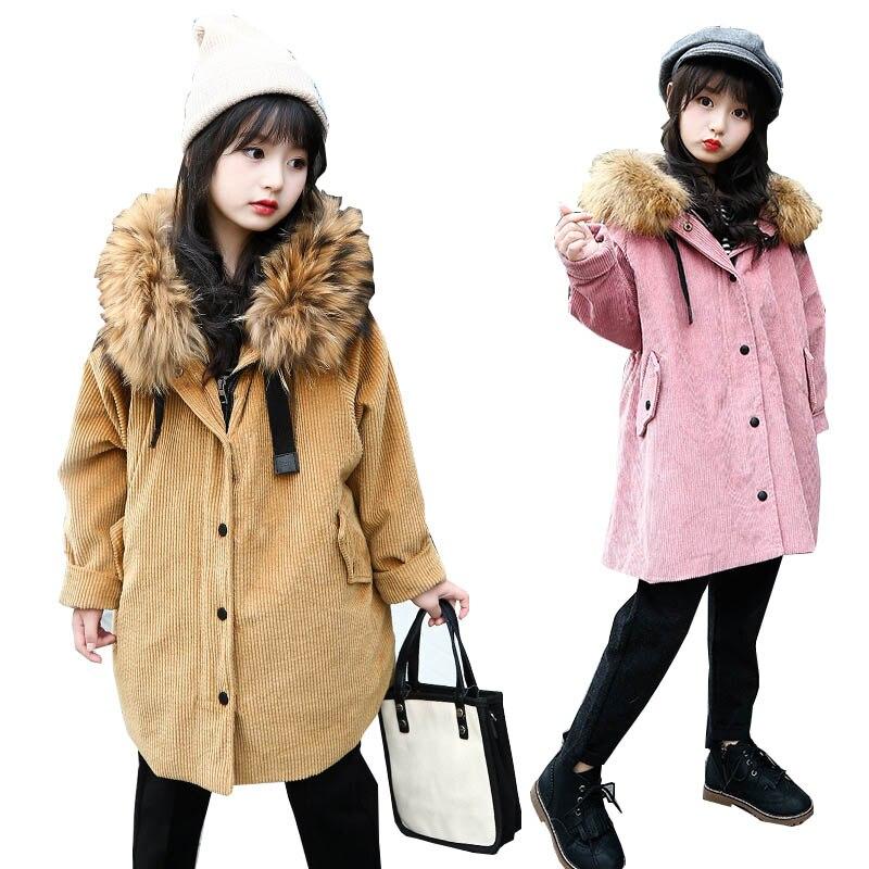 Girls winter jacket kids coats jacket for girls teenage girls outerwear childrens winter jackets fur coat fleece kids clothes<br>