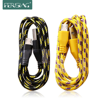 2M 3M long Braided Wire Micro USB Date Cable For Samsung S3 S4 S6 for Sony Andriod Phone Sync Nylon Woven Charger Cords ferising