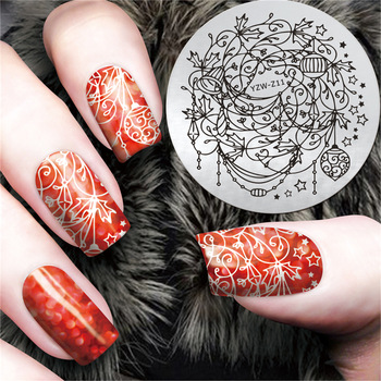 ZKO 1 x Stainless Steel Holiday Decoration Design Xmas Style Nail Art Templates Nail Stamping Plates Nail Art Image Polish #YZW-Z11