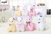 mylb 35cm/45cm Japanese Alpacasso Soft Toys Doll Giant Stuffed Animals Lama Toy 3 Colors Kawaii Alpaca Plush Kids Christmas Gift