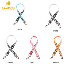 2.5cm Wide Pet Safety Belt Retractable Car Leash 60cm Long Adjustable Vehicle Car Dog Seat Belt Leash Dog Traction Rope 2017(China)