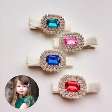 #70307 New Style Hair Accessory For Women/Girls Red Blue Green Pink Jewelry Hairpins Fascinator Crystal Rhinestone Hair Clip