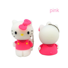 Usb Flash Drive 4GB 8GB Pendrive 16GB Pen Drive 32GB Cute Hello Kitty Cat Pink lovely Creative U disk memory Stick flash card(China)