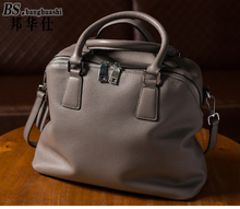 Leather Shoulder Portable Casual Shopping Bag Fashion Casual Bag(China)