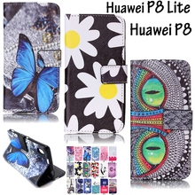 Flip Case Leather Cover Huawei P8 Cases Huawei P8 Lite Silicon+Leather Wallet Case Huawei P8lite P8 Coque Hoesjes p8 lite Fundas