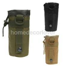 Outdoor Tactical Military Molle Water Bottle Bag Kettle Pouch Holder Green