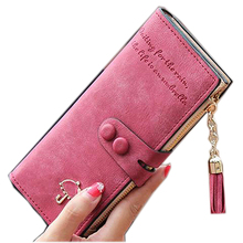 Women Fashion Faux Leather Clutch Wallet Long Card Holder Case Purse HandbagMujer portafoglio billetera bourse bolso homme(China)