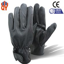 Free Shipping Good Quality Black Pigskin Driving Gloves Wrist Protection Gloves