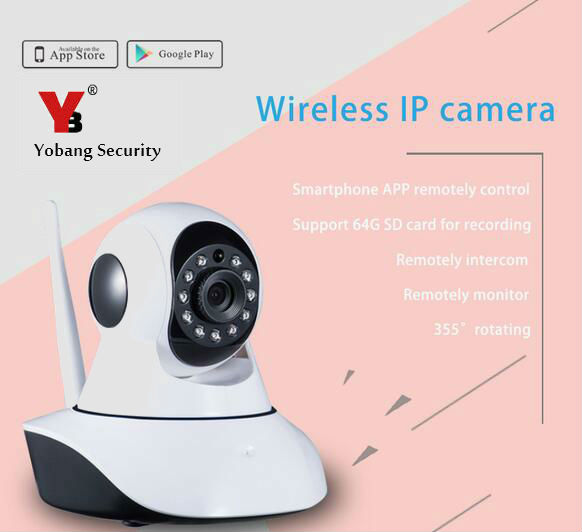 Yobang Security Newest indoor Wireless IP camera HD NIght Vision IP Camera Surveillance Camera Wifi camera<br>