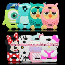 For Alcatel One Touch POP C7 OT 7041D OT 7040D Fashion 3D Silicon Owl Minnie Hello Kitty Cupcake Sulley Cartoon Soft Case Cover