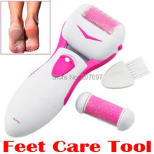 Feet Care Tool Epilator Skin Foot beauty cleaner massage Dead Removal Electric Exfoliator Heel Cuticles Remover Pedicure shaver(China)