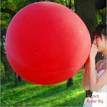 "5PCS/lot 36"" Ultra Big Balloons Inflable Latex Balloons for Birthday Wedding Party Decoration Big Round Giant Balloon Colorful"