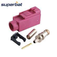 Superbat RF Coax Connector Antenna Connector Fakra crimp Female Jack connector Key Code H Violet for GPS,XM Direct