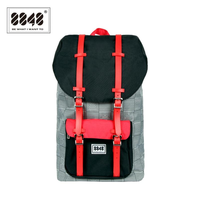 8848 Backpack Waterproof 20LCollege Backpack Fashion Patch Work Unisex Travel Bag Knapsack Backpacks Women/Men Military S15005-5<br>