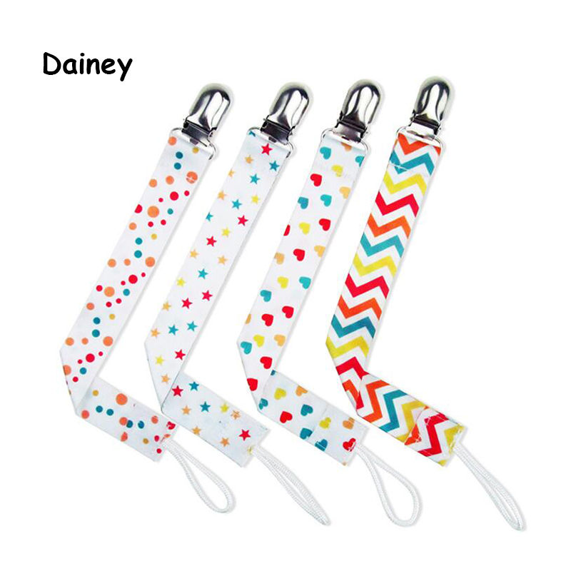 4pcs/lot Baby Pacifier Clip Chain Ribbon Holder Soother Pacifier Clips Leash Strap Nipple Holder Infant Feeding BNZ25