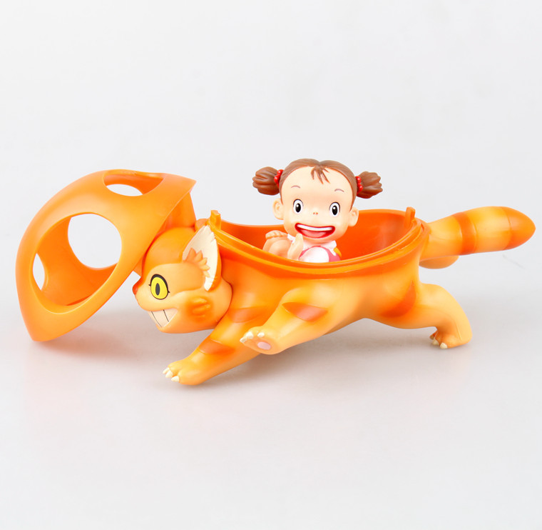 Classic Anime My Neighbor Totoro Mei and The Kitten Bus Boxed 10 CM PVC Action Figure Collection Model Doll Toy Gift Kids Gifts<br><br>Aliexpress
